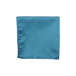 Colour Basis Teal Solid Pocket Square