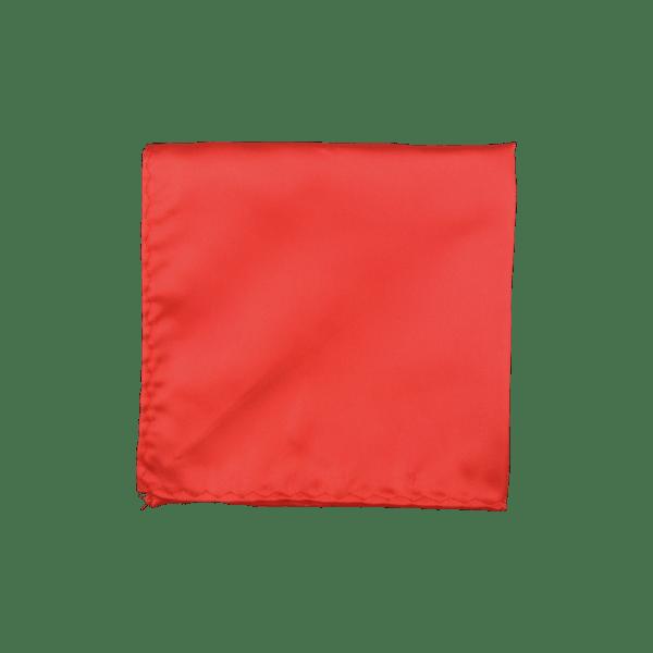 Colour Basis Orange Red Pocket Square
