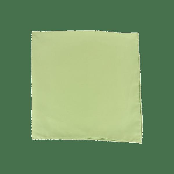 Colour Basis Light Olive Pocket Square
