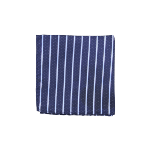 Colour Basis Navy and Light Stripe Pocket Square