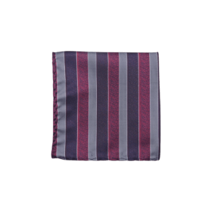 Colour Basis Eggplant and Mulberry Pink Stripe Pocket Square