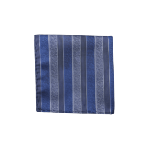 Colour Basis Slate Stripe Pocket Square