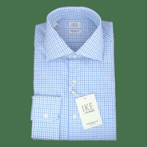 Ike Behar Azure Striped Shirt