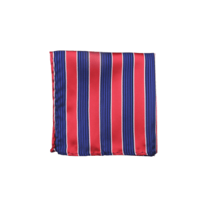 Colour Basis Red and Navy Blue Pocket Square
