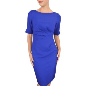 Deep Lapis Sheath Dress