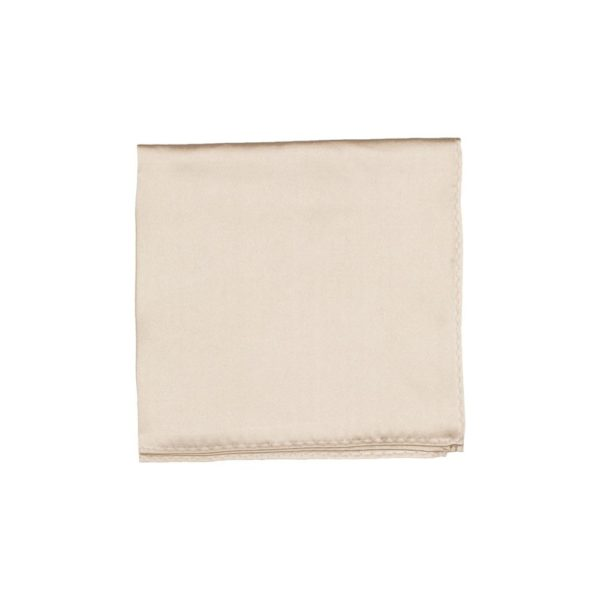 Colour Basis Off White Smooth Pocket Square