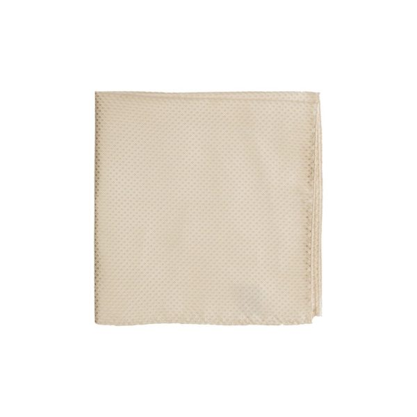 Colour Basis Champagne Off White Diamond Texture Weave Pocket Square
