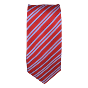 Extra Long Colour Basis with Light Blue Stripe Tie