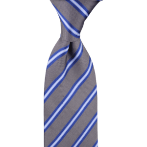 Colour Basis Grey with Blue Stripes Tie