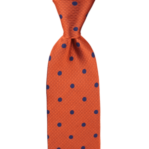 Colour Basis Orange with Navy Dots Tie