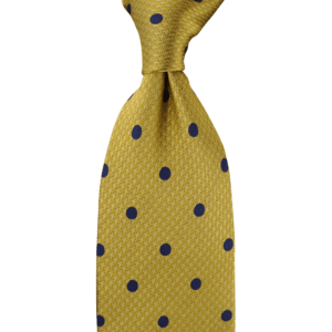 Colour Basis Gold with Navy Dots Tie