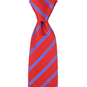 Colour Basis Red with Blue Stripes Tie