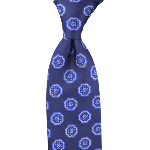 Colour Basis Navy with Blue Ornament Detail Tie