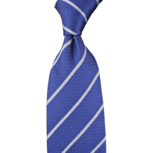 Colour Basis Blue with Silver Stripes Tie
