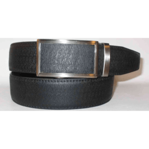 Men's Faux Leather Belt with Textured Click Buckle