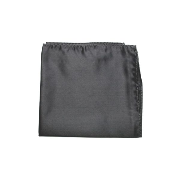 Colour Basis Dark Silver Grey Smooth Weave Pocket Square