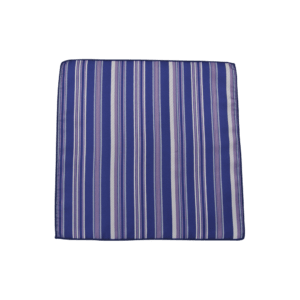 Colour Basis with Silver and Purple Stripes Pocket Square