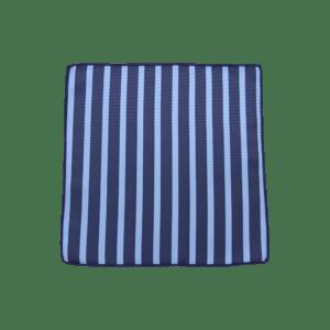 Colour Basis with Carolina Blue Stripes Pocket Square