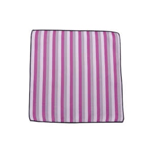 Colour Basis and Silver Stripes Pocket Square