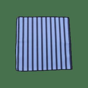 Colour Basis Carolina with Navy Stripes Pocket Square