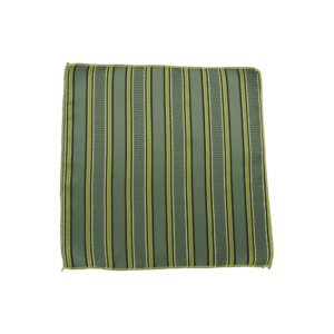 Colour Basis Olive with Stripes Pocket Square