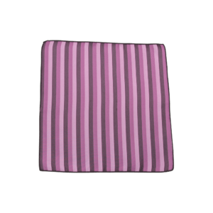 Colour Basis Pink and Purple Stripe Pocket Square