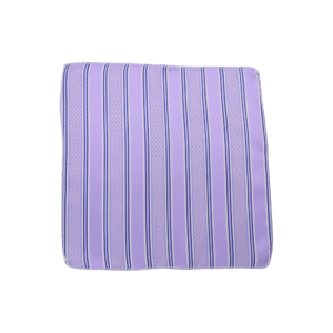 Colour Basis Lilac with Blue Stripes Pocket Square