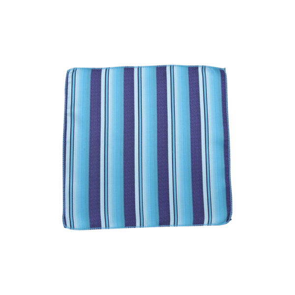 Colour Basis with Navy Stripes Pocket Square