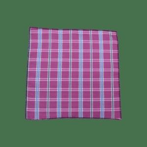 Colour Basis Blue Stripes and Squares Pocket Square