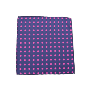 Colour Basis with Pink Dots Pocket Square