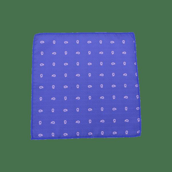 Colour Basis with Pink Leaf Detail Pocket Square