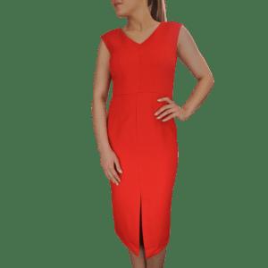 Box Texture Weave Pencil Dress
