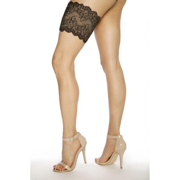 Girly Go Garter Black www.colourbasis.com