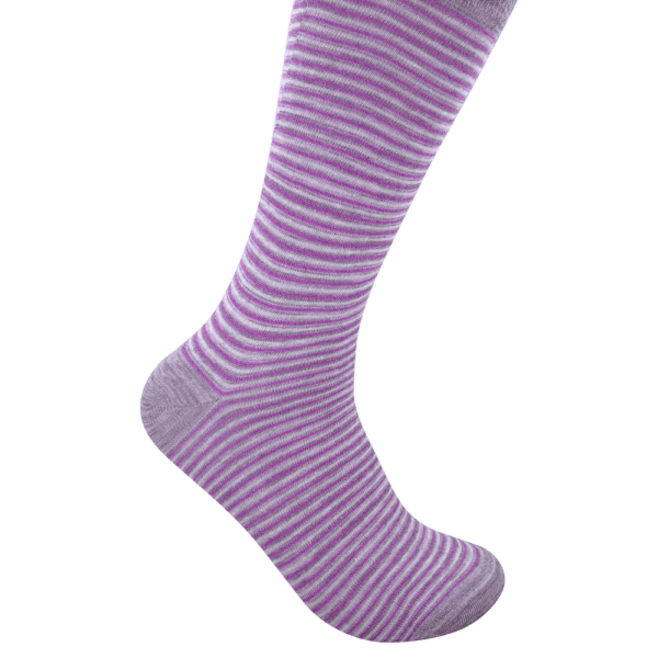 Geoff Nicholson Men's Mid Calf Lilac Purple and Grey Socks
