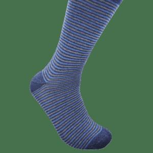 Geoff Nicholson Navy and Grey Stripe Socks