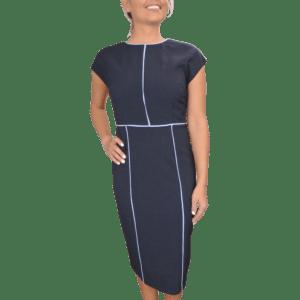 Meryl Midi Colour Block Dress