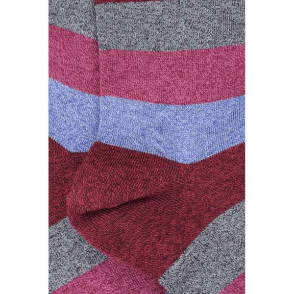 Fuxia and Blue Wide Stripe Socks