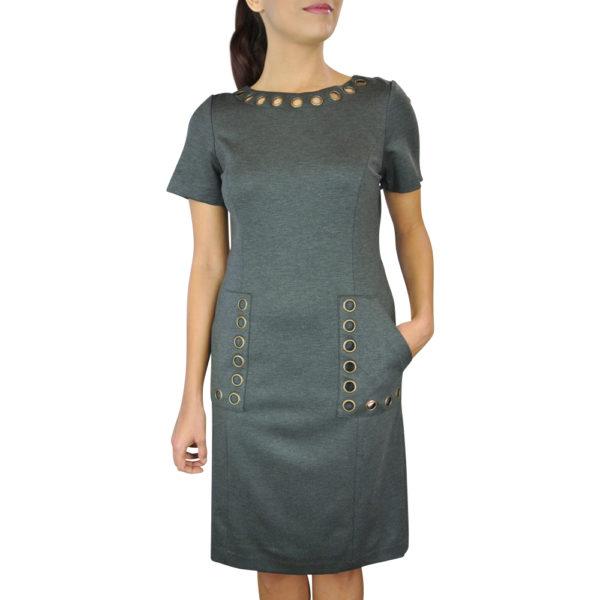 Ponte Grommet Dress