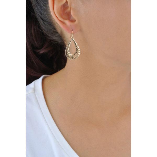 Pear-Shaped Gold Earrings